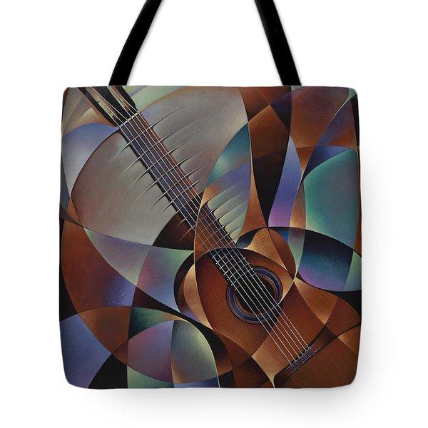 Dynamic Guitar Tote Bag by Ricardo Chavez-Mendez