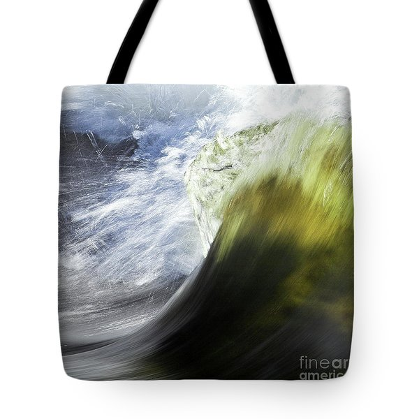 Dynamic River Wave Tote Bag by Heiko Koehrer-Wagner