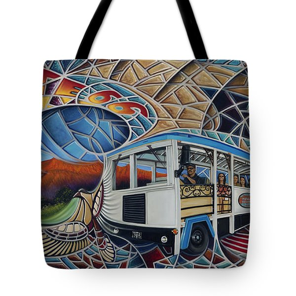 Dynamic Route 66 II Tote Bag by Ricardo Chavez-Mendez