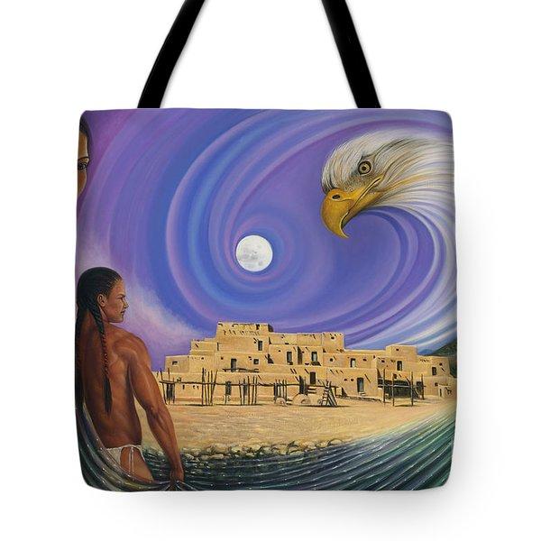 Dynamic Taos I Tote Bag by Ricardo Chavez-Mendez