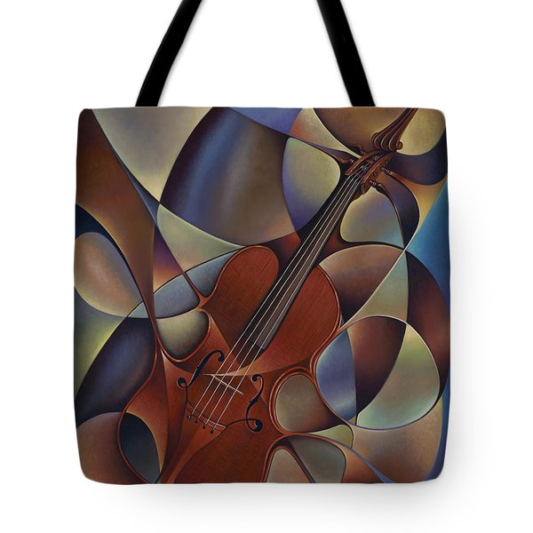 Dynamic Violin Tote Bag