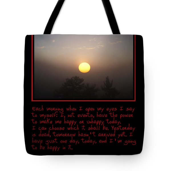 Each Morning Tote Bag by Bill Cannon