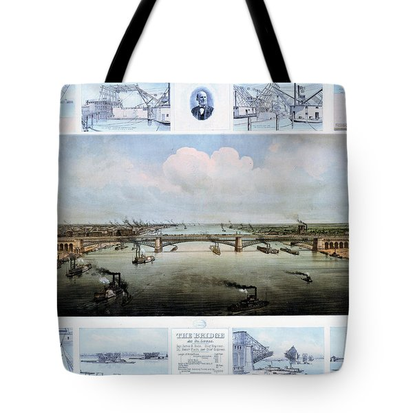 Eads Bridge Drawings Tote Bag