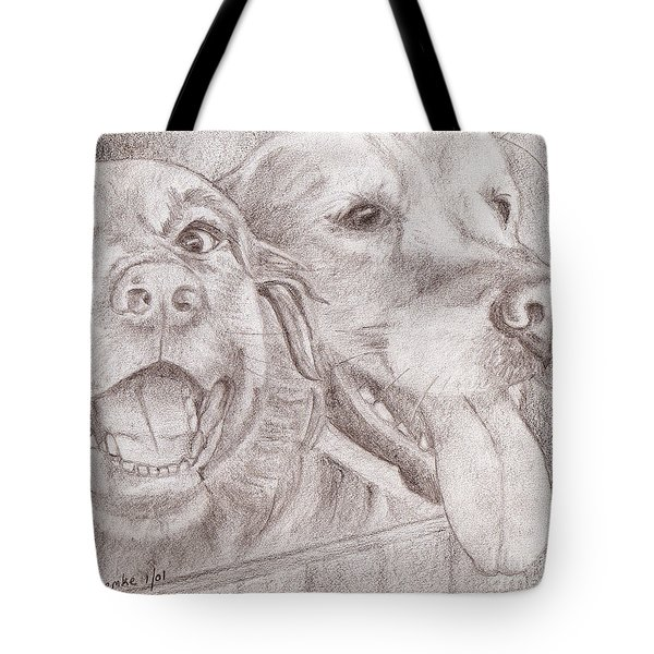 Eager Best Friends Tote Bag