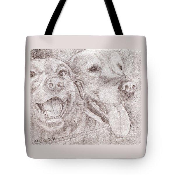 Eager Best Friends Tote Bag by Audra D Lemke