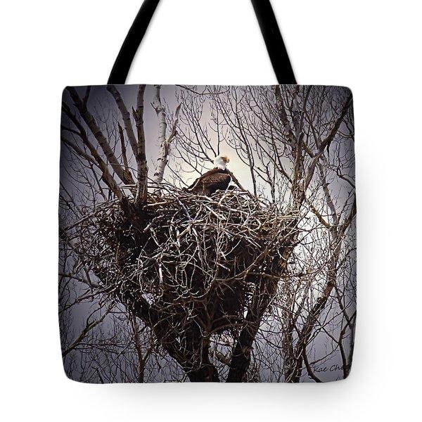 Eagle At Home Tote Bag