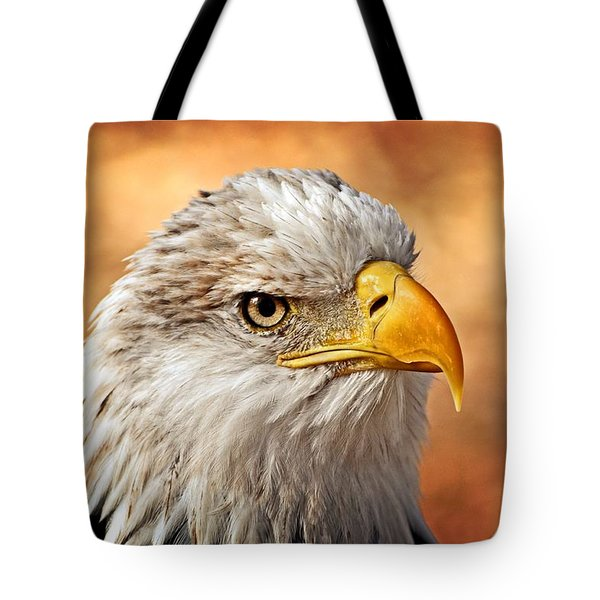 Eagle At Sunset Tote Bag by Marty Koch
