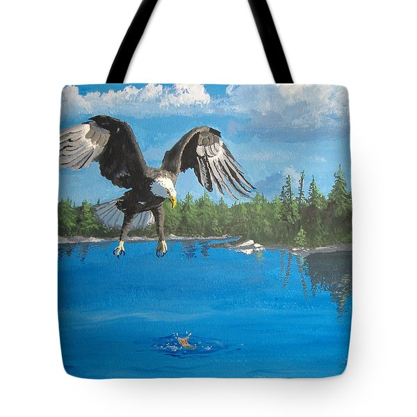 Eagle Attack Tote Bag by Norm Starks