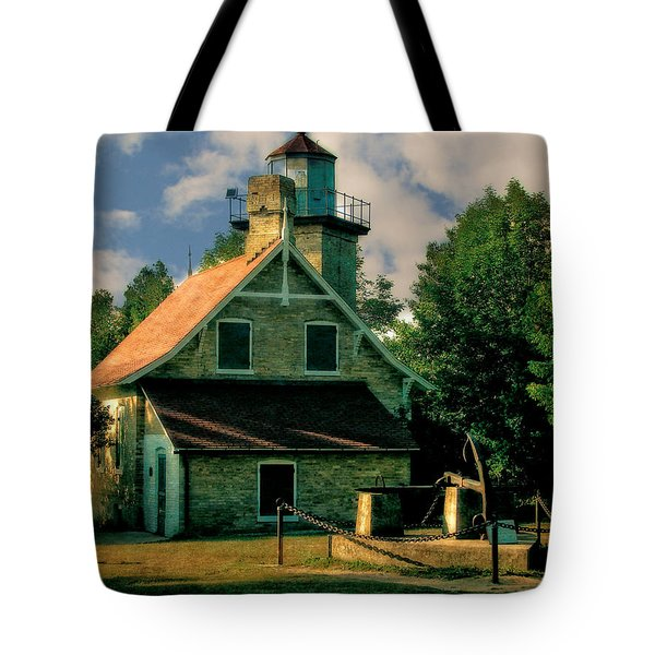 Eagle Bluff Light 2.0 Tote Bag by Michelle Calkins