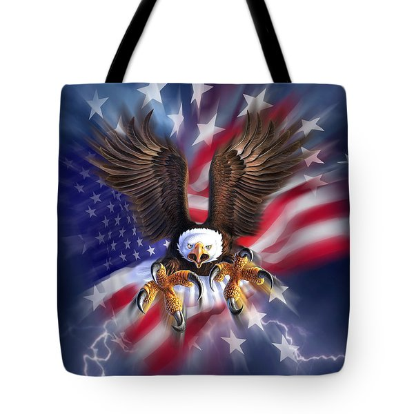 Eagle Burst Tote Bag