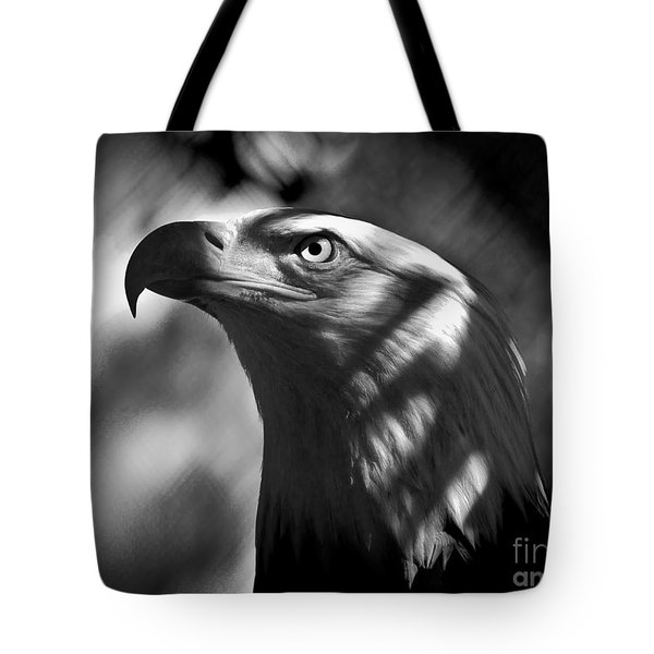 Eagle In Shadows Tote Bag by Robert Frederick