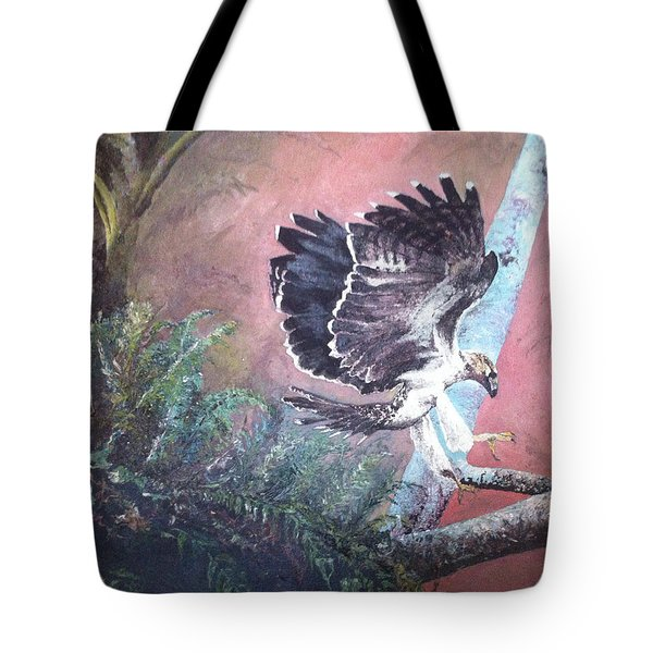 Tote Bag featuring the painting Eagle Light by Mary Ellen Anderson