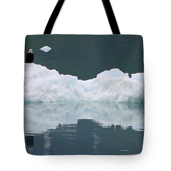 Eagle On Ice Tote Bag by Shoal Hollingsworth