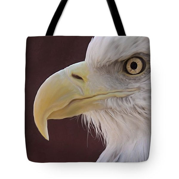 Eagle Portrait Freehand Tote Bag