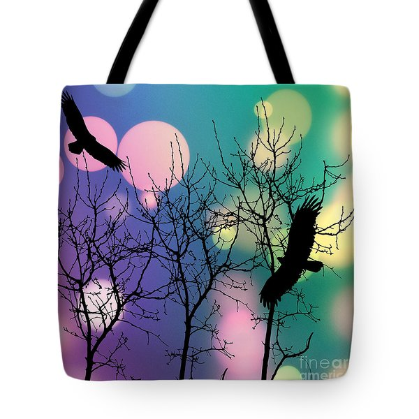 Tote Bag featuring the digital art Eagle Rebirth Light by Kim Prowse