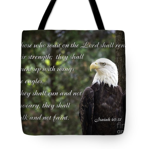 Eagle Scripture Isaiah Tote Bag