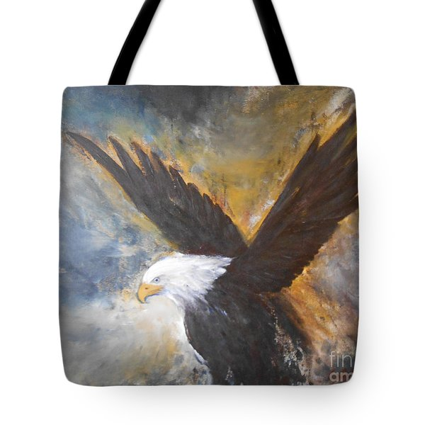 Tote Bag featuring the painting Eagle Spirit by Jane  See