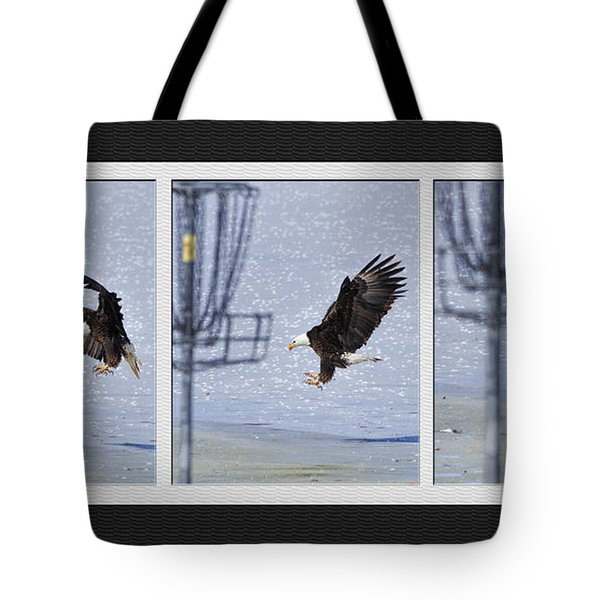 Tote Bag featuring the photograph Eagle Triptych by Rob Graham