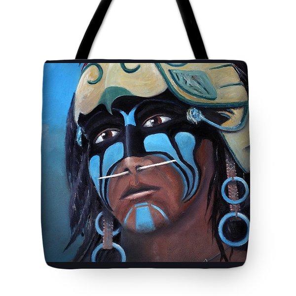 Eagle Warrior Close Up Tote Bag
