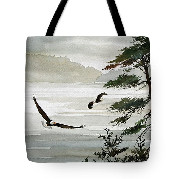 Eagles Eden Tote Bag by James Williamson