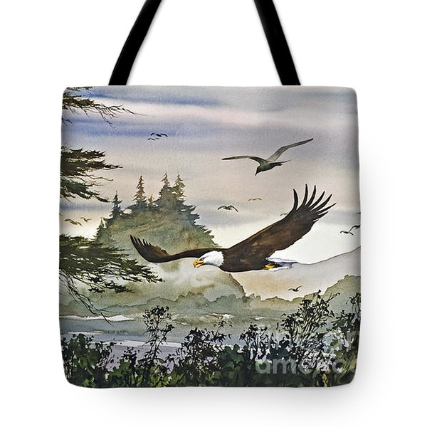 Eagles Majestic Flight Tote Bag by James Williamson