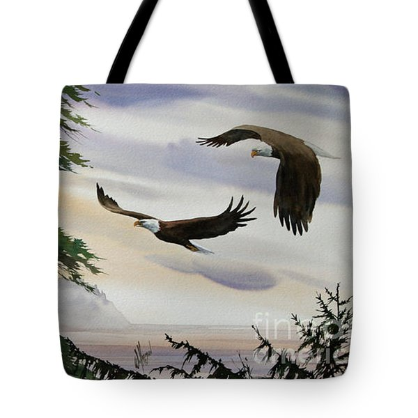 Eagles Romance Tote Bag by James Williamson