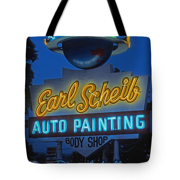 Earl Scheib Neon Bev Hills-1 Tote Bag by Barbara Filet