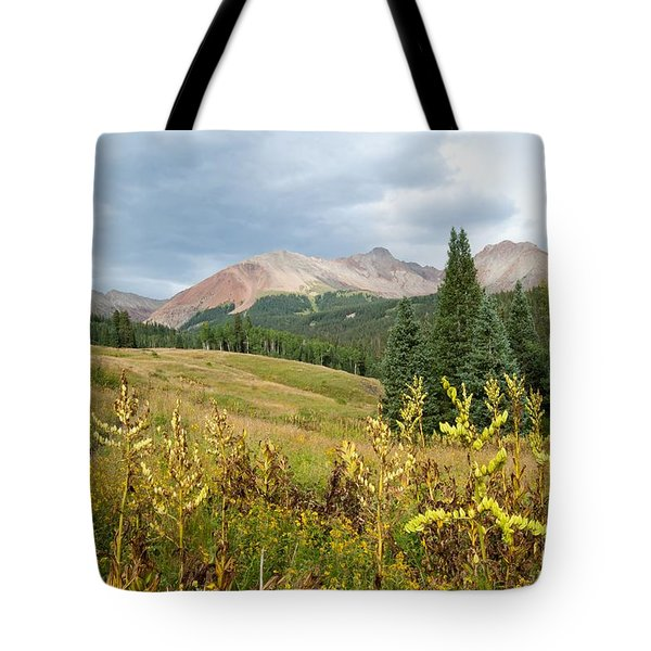 Early Autumn In The San Juans -  Mount Wilson And Wilson Peak Tote Bag