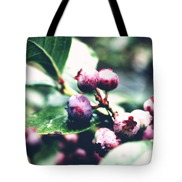 Early Blueberries Tote Bag