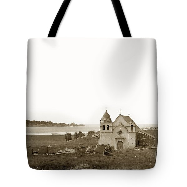 Early Carmel Mission And Point Lobos California Circa 1884 Tote Bag