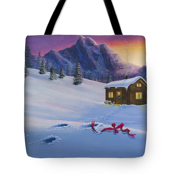 Early Christmas Morn Tote Bag