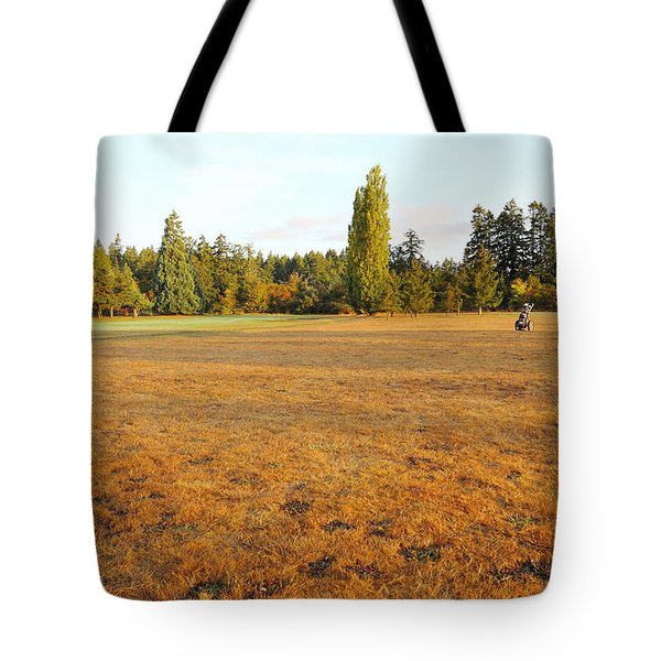 Early Fall Morning In The Rough On The Golf Course Tote Bag