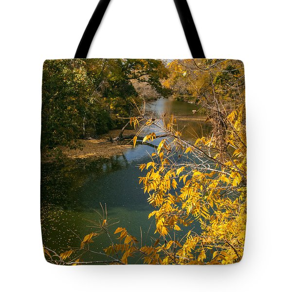Early Fall On The Navasota Tote Bag by Robert Frederick
