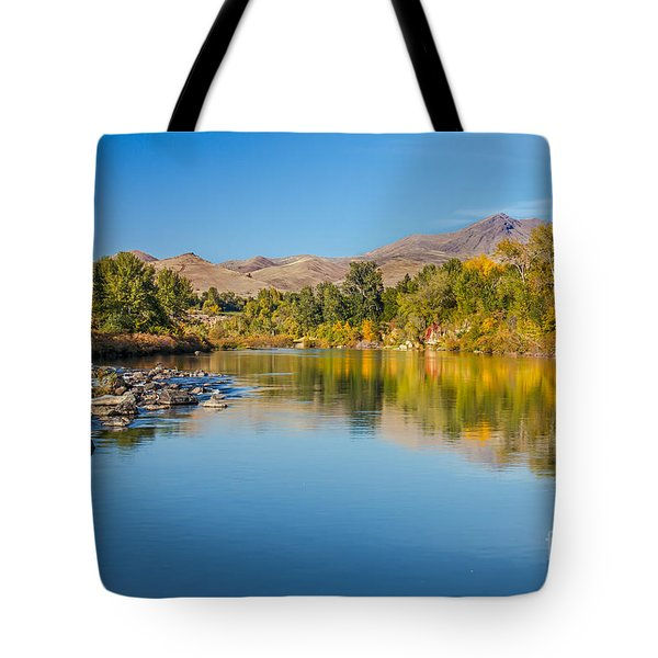 Early Fall On The Payette Tote Bag by Robert Bales