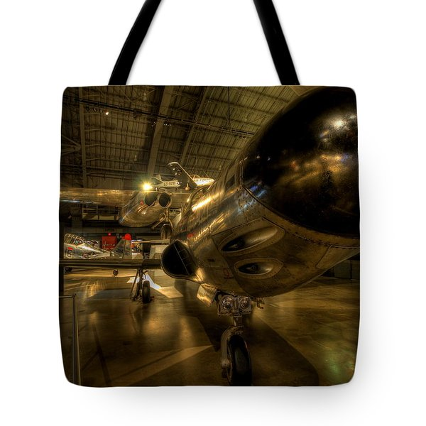 Early Jet Fighter Tote Bag by David Dufresne