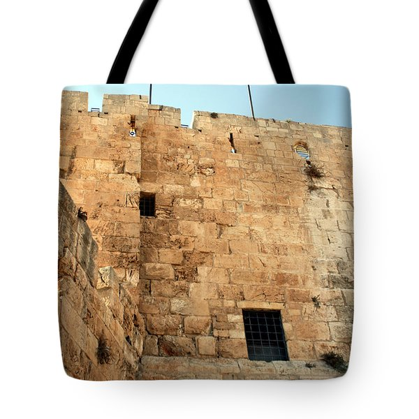Tote Bag featuring the photograph Early Morning At The Jaffa Gate by Doc Braham