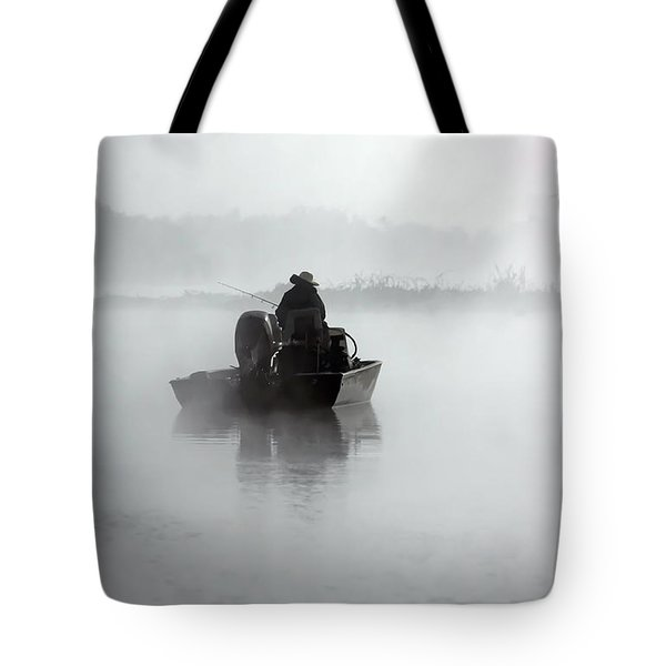 Early Morning Fishing Tote Bag by Myrna Bradshaw