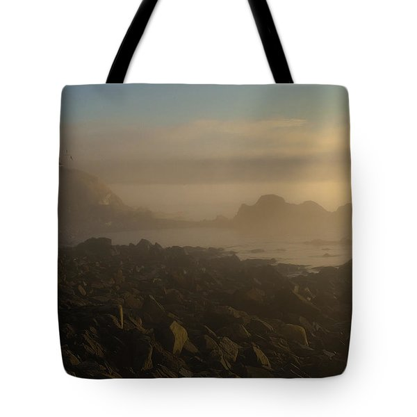 Early Morning Fog At Quoddy Tote Bag