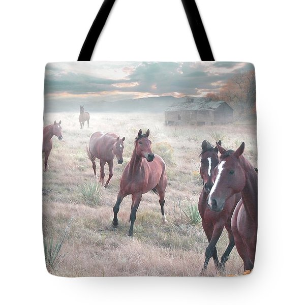 Early Morning Fog Tote Bag by Bill Stephens