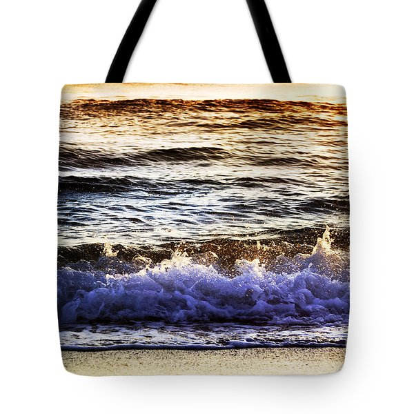 Early Morning Frothy Waves Tote Bag