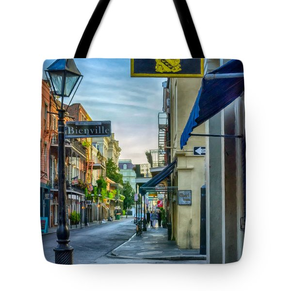 Early Morning In French Quarter Nola Tote Bag by Kathleen K Parker
