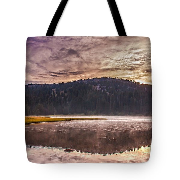 Early Morning Lake Light Tote Bag by Robert Bales