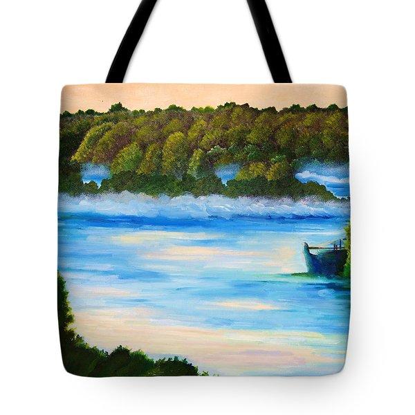Early Morning On Lake Peipsi  Tote Bag
