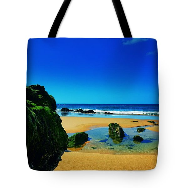 Early Morning On The Beach II Tote Bag by Marco Oliveira