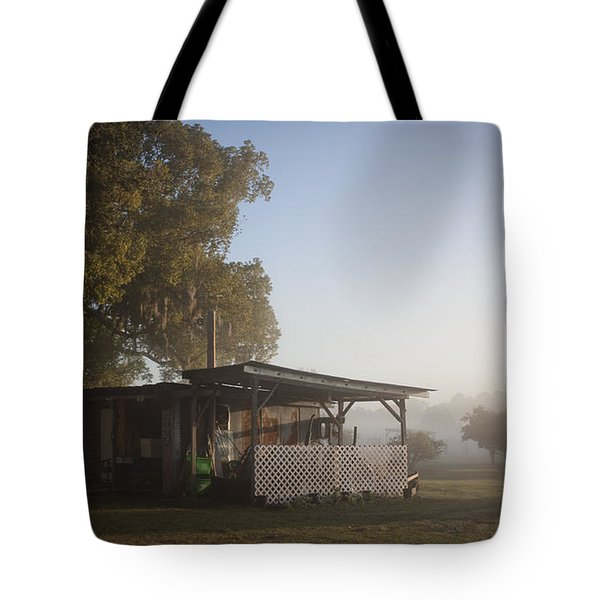 Early Morning On The Farm Tote Bag by Lynn Palmer