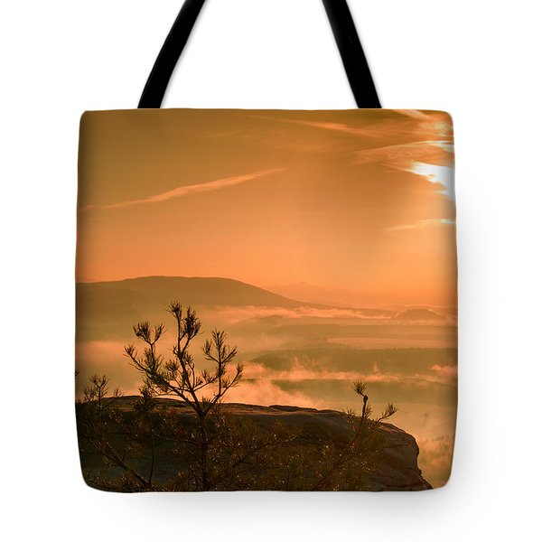 Early Morning On The Lilienstein Tote Bag