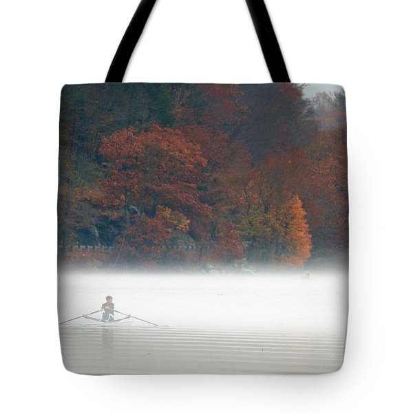 Early Morning Row Tote Bag by Karol Livote
