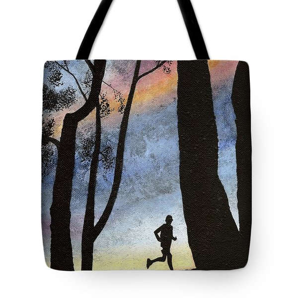 Early Morning Run Tote Bag