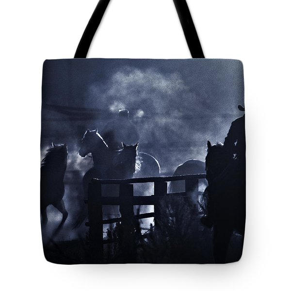 Early Morning Smoke Tote Bag by Joan Davis