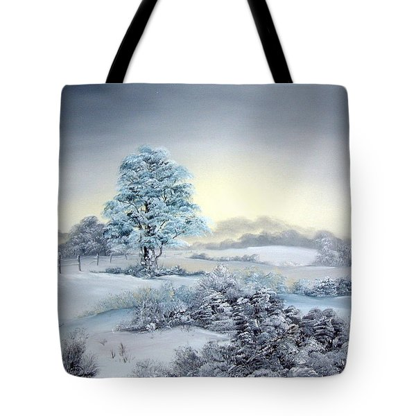 Early Morning Snows Tote Bag